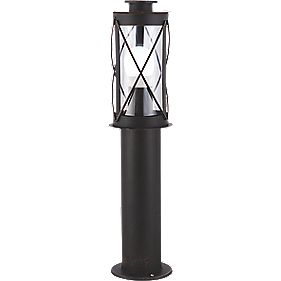 Lyster Single Outdoor Post Light Rustic Effect Paint 40 W