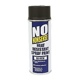 No Nonsense Heat Resistant Spray Paint Black 400ml
