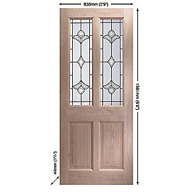 Jeld-Wen Thornbury Double-Glazed Exterior Door Unfinished 838mm x 1981mm