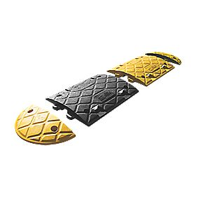 JSP 2-Part Speed Bump 75mm Black/Yellow