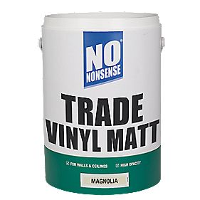 No Nonsense Vinyl Matt Paint Magnolia 5Ltr