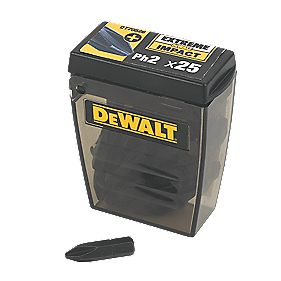 DeWalt 25mm Impact Screwdriver Bits PH #2 Pack of 25