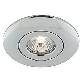 Circular Low Voltage Ceiling Downlight Converter Polished Chrome 12V