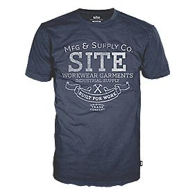 "Site Supply Co T-Shirt Navy Medium 39-42"" Chest"