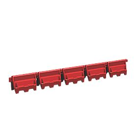 Road Wall Barriers Red 1m Pack of 9