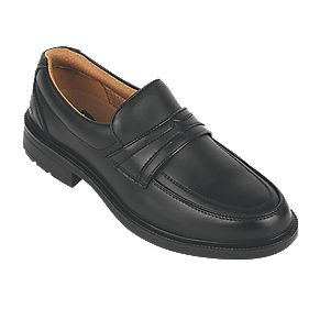 City Knights Slip-On Executive Safety Shoes Black Size 10