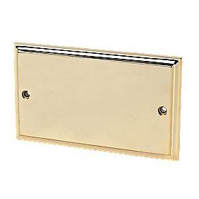 2-Gang Blank Plate Victorian Brass