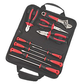 Forge Steel Pliers & Screwdriver Set 10Pcs