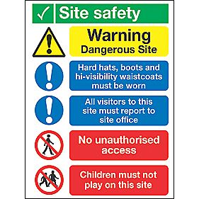 """Site Safety"" Sign 400 x 300mm"