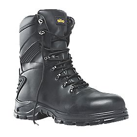 Site Flint Hi-Top Waterproof Safety Boots Black Size 7