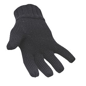 General Handling Thinsulate-Lined Knit Gloves Black One Size
