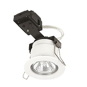 Linolite Sylvania Fixed Round Low Voltage F-Rated MR16 Downlight White 12V