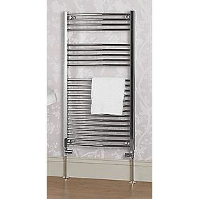 Kudox Curved Ladder Towel Rail Chrome 1100 x 600mm 431W 1471Btu