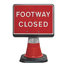 JSP Portacone Footway Closed Cone Sign 660mm