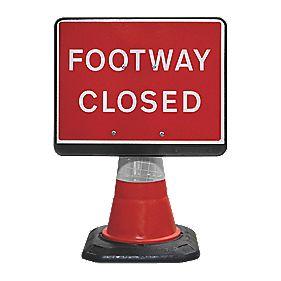 JSP Portacone Footway Closed Cone Sign 660mm