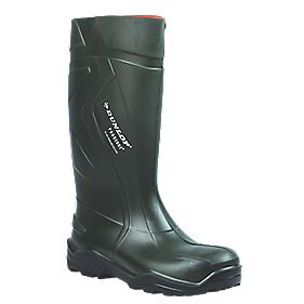 DUNLOP PUROFORT FULL SAFETY GREEN WELLINGTON 10