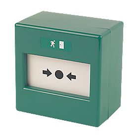 Deedlock ABGU1-SP 2-Wire Access Control Call Point Green 12-24V
