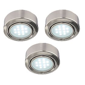 LAP Round Cabinet Downlight Satin Nickel Pack of 3