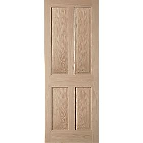 Jeld-Wen Oregon 4-Panel Interior Door Oak Veneer 686 x 1981mm