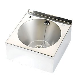 Franke Model B Wall-Hung Wash Basin 2 Tap Hole Stainless Steel Bowl & 345 x 340mm