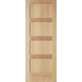 Jeld-Wen Shaker Solid 4 Panel Internal Panelled Door Oak Veneer 1981 x 762mm
