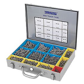 Turbo Ultra Woodscrews Midi Trade Case Pack of 2000