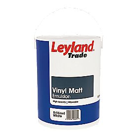 Leyland Vinyl Matt Paint Brilliant White 5Ltr