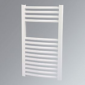 Kudox Curved Towel Radiator White 400 x 700mm 265W 904Btu