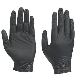 Best N-Dex 7700 Nitrile Nighthawk Powder-Free Disposable Gloves Black Large Pk50