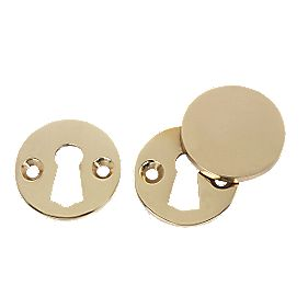 Unbranded Victorian Escutcheon Set Polished Brass 38mm