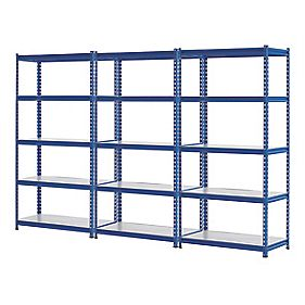 3 Shelving Bays Blue 923 x 619 x 1830mm