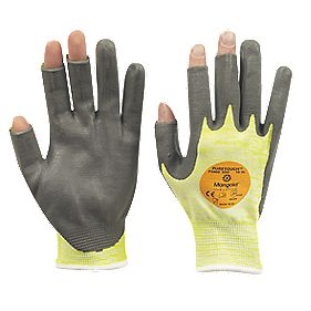 Marigold Industrial P3000 Cut 3 3 DO PU Nitrile-Coated Gloves Yellow