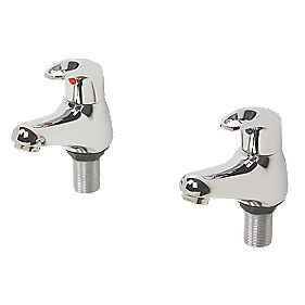 Swirl Loop Bath Taps Pair