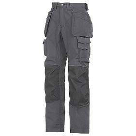 "Snickers Rip-Stop Pro-Kevlar Floorlayer Trousers Grey/Black 41"" W 32"" L"