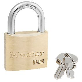 Master Lock Keyed Alike Brass Padlock 40mm