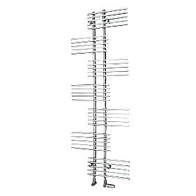 Parallel Rail Vertical Designer Radiator Chrome 1762 x 650mm 2367BTU