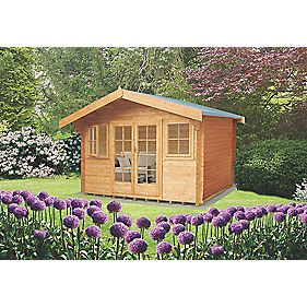 Clipstone 2 Log Cabin 4.1 x 4.1 x 2.8m Assembly Included