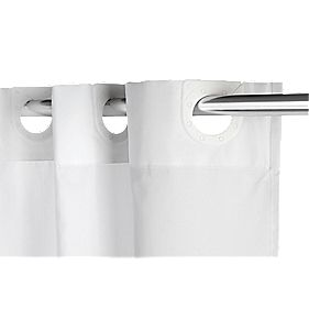 Croydex Hang 'n' Hook Shower Curtain White 1800 x mm
