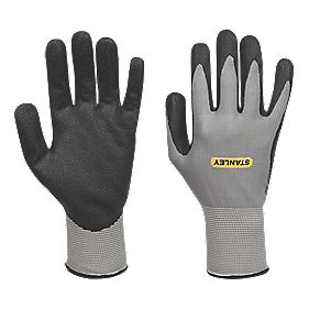 Stanley General Handling Micro Dot Gripper Gloves Grey Large