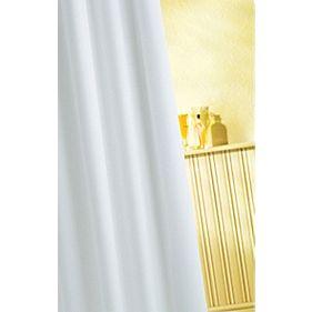 Croydex Shower Curtain White 1800 x