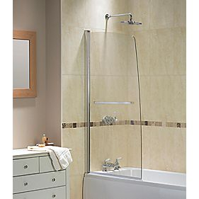 Semi-Framed Semi-Framed Silver/Clear 850 x 1500mm