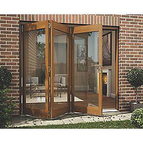 Jeld-Wen Slide & Fold Patio Door Set Oak Veneer 2394 x 2094mm