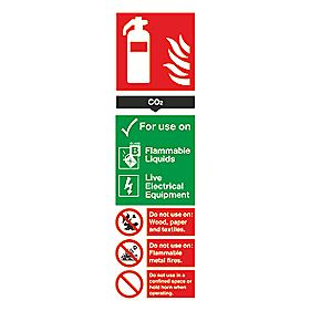 CO² Extinguisher Sign