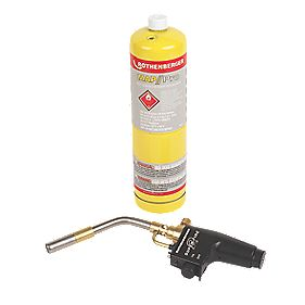 Rothenberger Super Fire Torch & Map Pro Gas Cylinder