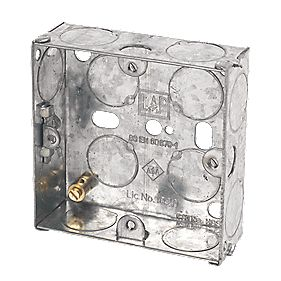 LAP Installation Boxes Galvanised Steel 1 Gang 25mm Pack of 10