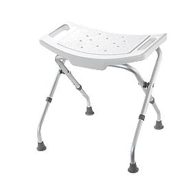 Croydex Adjustable Shower Seat White 475-510 x 495 x 498mm