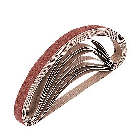 Cloth Sanding Belts Unpunched 13 x 457mm 40 Grit Pack of 10