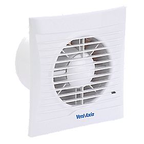 Vent-Axia SIL100T 13W Silhouette Axial Bathroom Fan