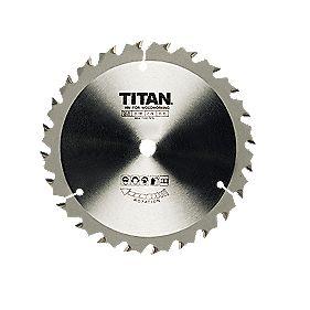 Titan TCT Circular Saw Blade 24T 136x10mm