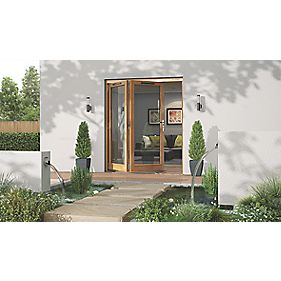 Jeld-Wen Canberra Slide & Fold Patio Door Set Golden Oak 1794 x 2094mm